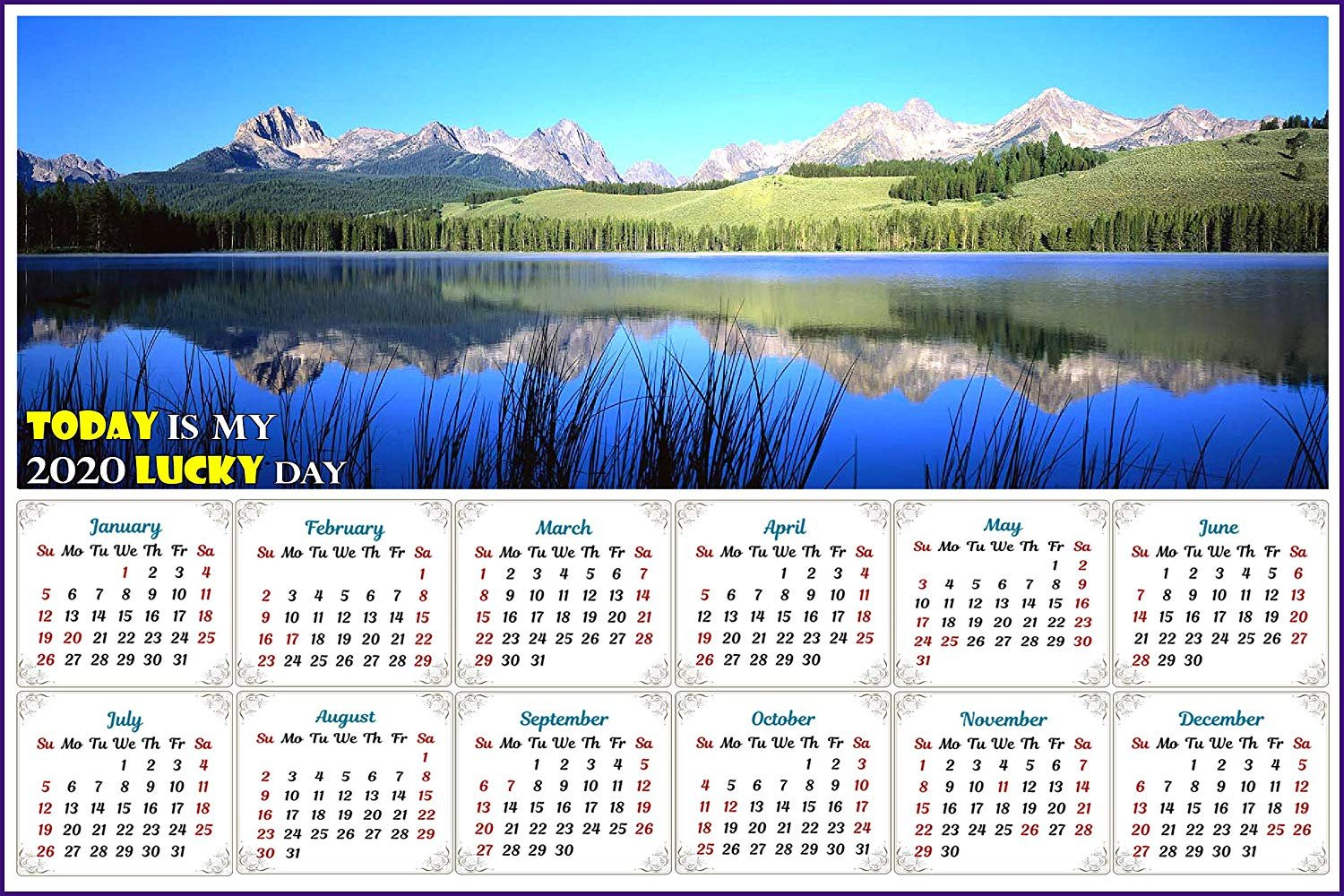 2020 Magnetic Calendar - Calendar Magnets - Today is My Lucky Day - Edition #15