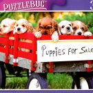 Red Wagon Puppies for Sale - 300 Pieces Jigsaw Puzzle