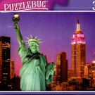 Statue of Liberty at Sunset and New York City Skyline - 300 Pieces Jigsaw Puzzle