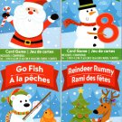 Reindeer Rummy, Go Fich, Crazy Eights, Matching - Christmas Playing Cards Game (Set of 4)