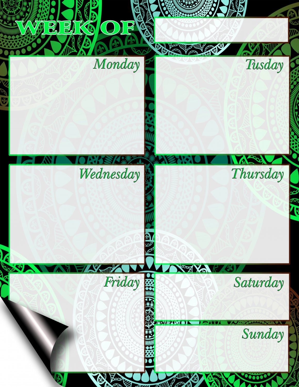 Chore Chart/Weekly Planner/to Do List/Message Board - (Edition #03)) (Weekly Planner)