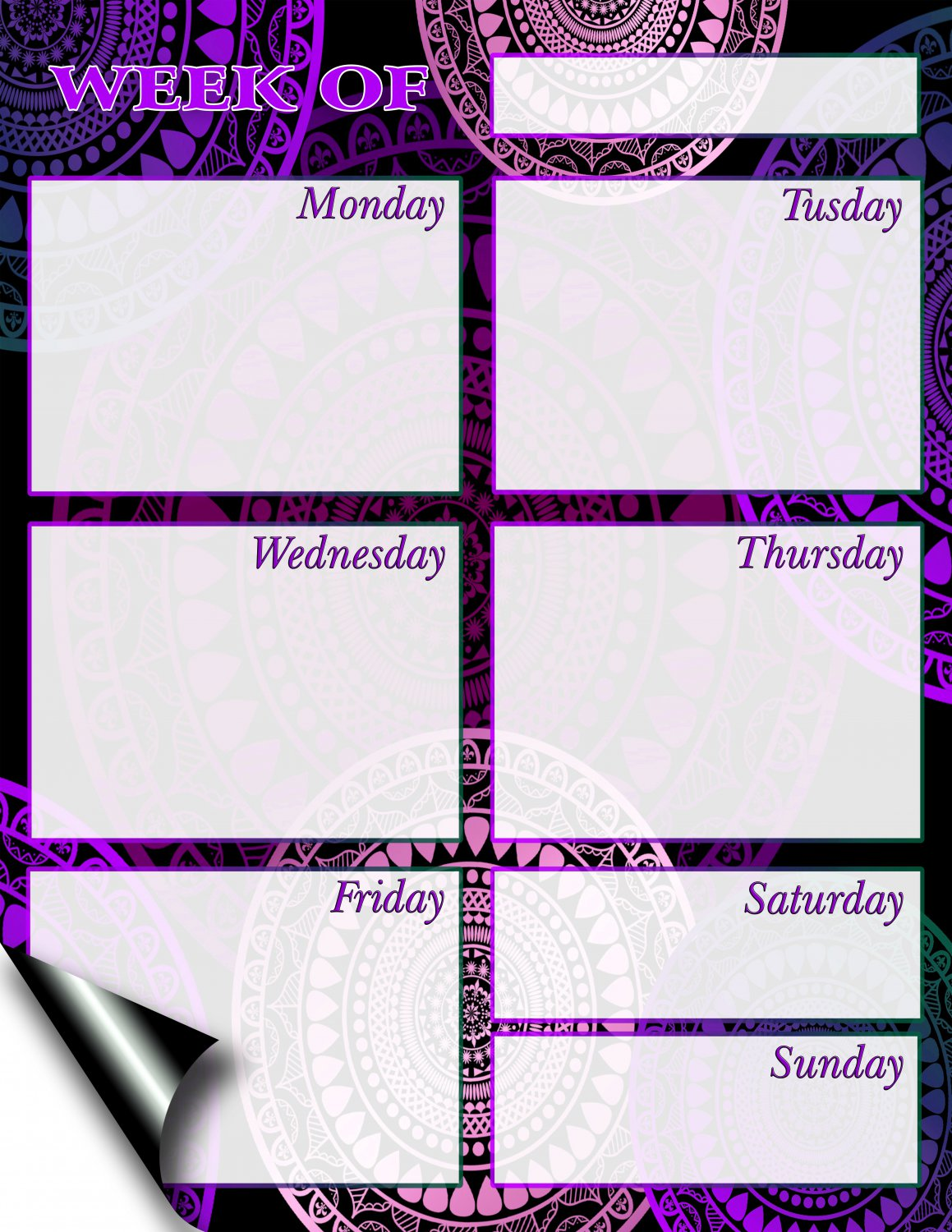 Chore Chart/Weekly Planner/to Do List/Message Board - (Edition #04) (Weekly Planner)