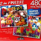 Playtime in the Garden / Sugary Shakes - Total 480 Piece 2 in 1 Jigsaw Puzzles p015