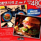 Burger Hunt / Juicy Bacon Cheeseburger  - Total 480 Piece 2 in 1 Jigsaw Puzzles - p015