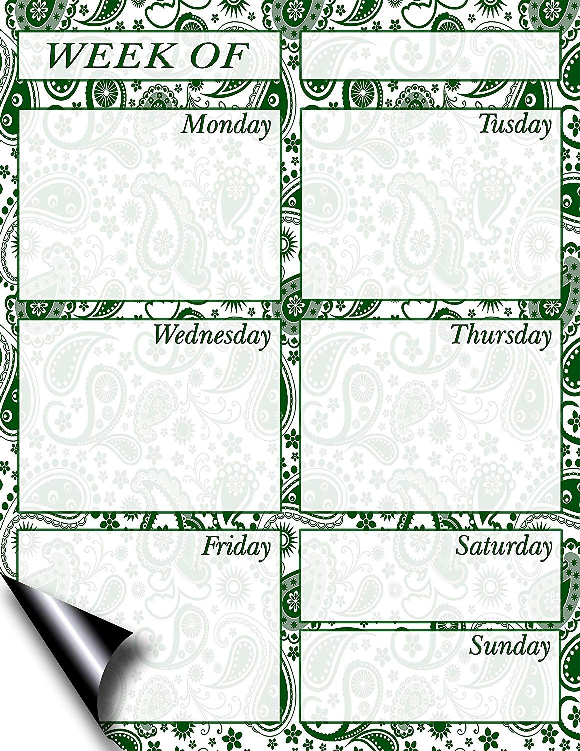 Chore Chart/Weekly Planner/to Do List/Message Board - (Edition #09) (Weekly Planner)