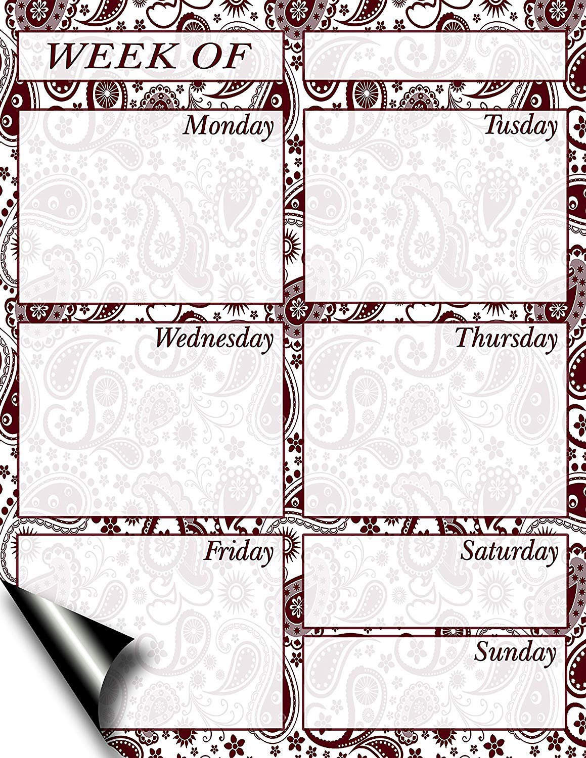 Chore Chart/Weekly Planner/to Do List/Message Board - (Edition #11) (Weekly Planner)