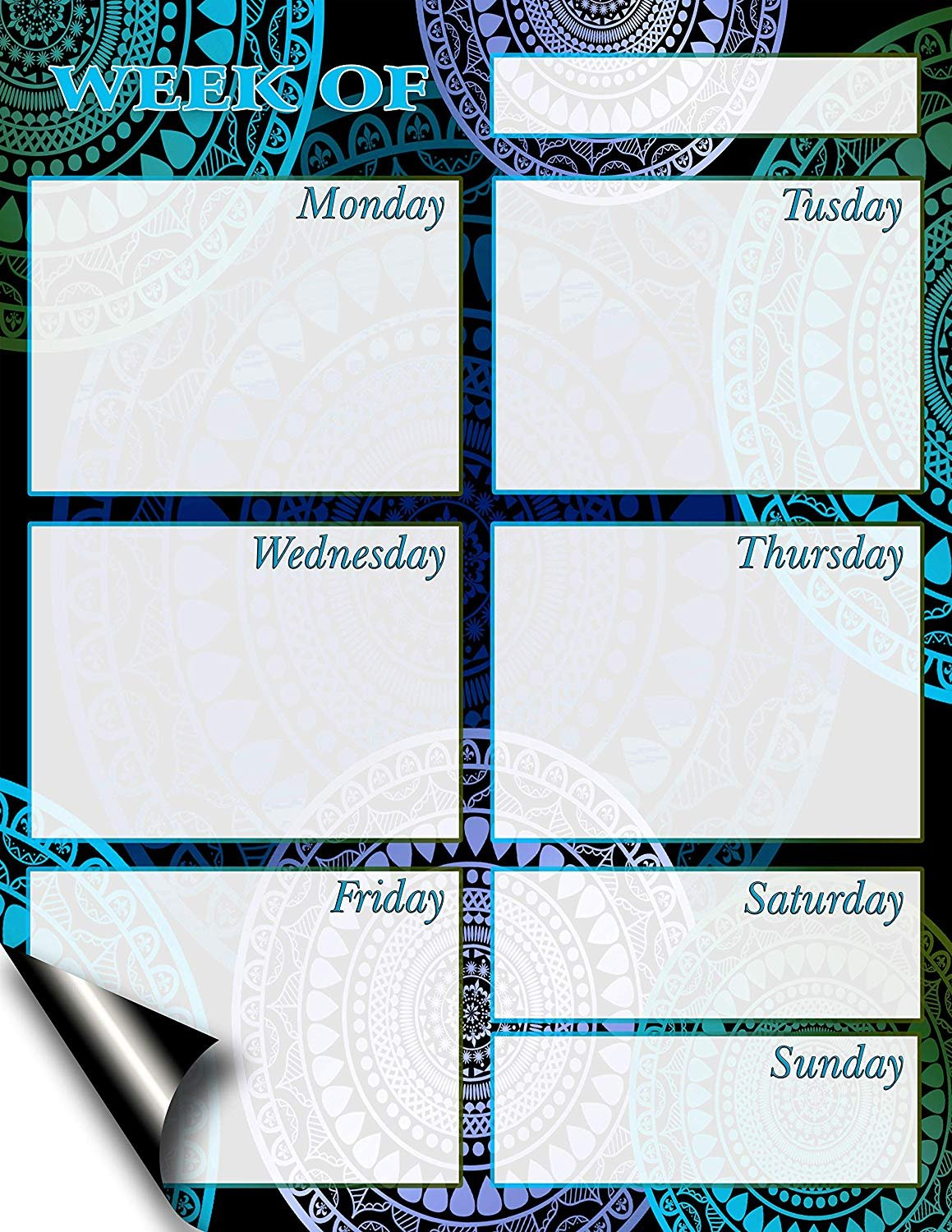 Chore Chart/Weekly Planner/to Do List/Message Board - (Edition #5) (Weekly Planner)