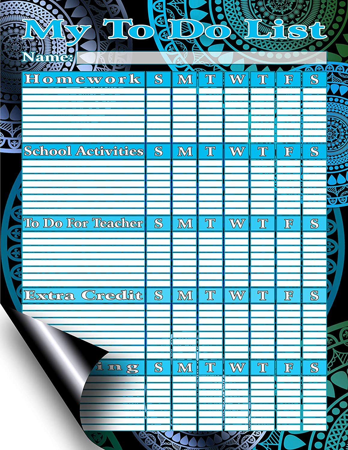 Chore Chart/Weekly Planner/to Do List/Message Board - (Edition #5) (Chore Chart/to Do List)