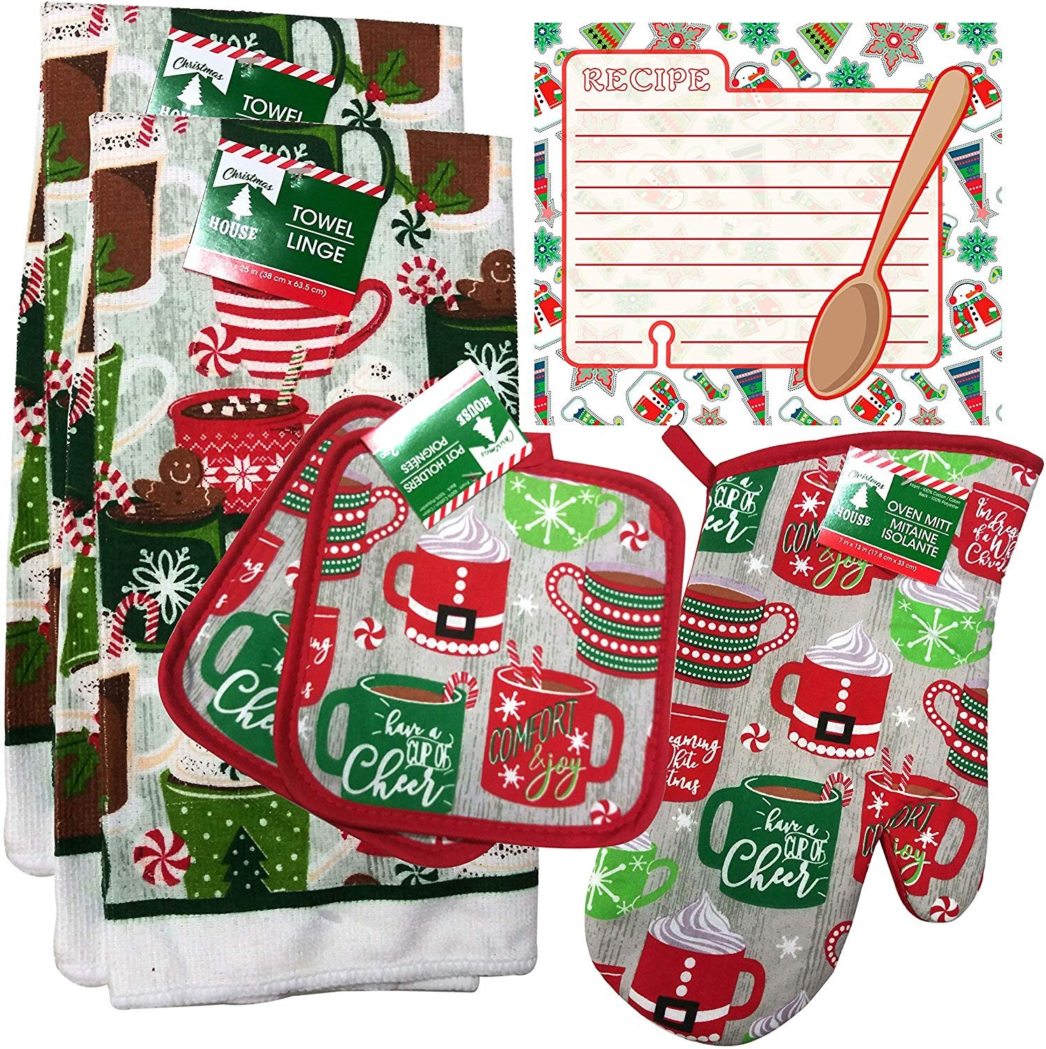 Christmas - Holiday Baking Kitchen Linen Set (6 Piece) - (Style 05)