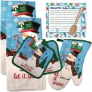 Christmas - Holiday Baking Kitchen Linen Set (6 Piece) - (Style 01)