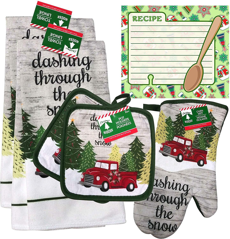 Christmas - Holiday Baking Kitchen Linen Set (6 Piece) - (Style 08)