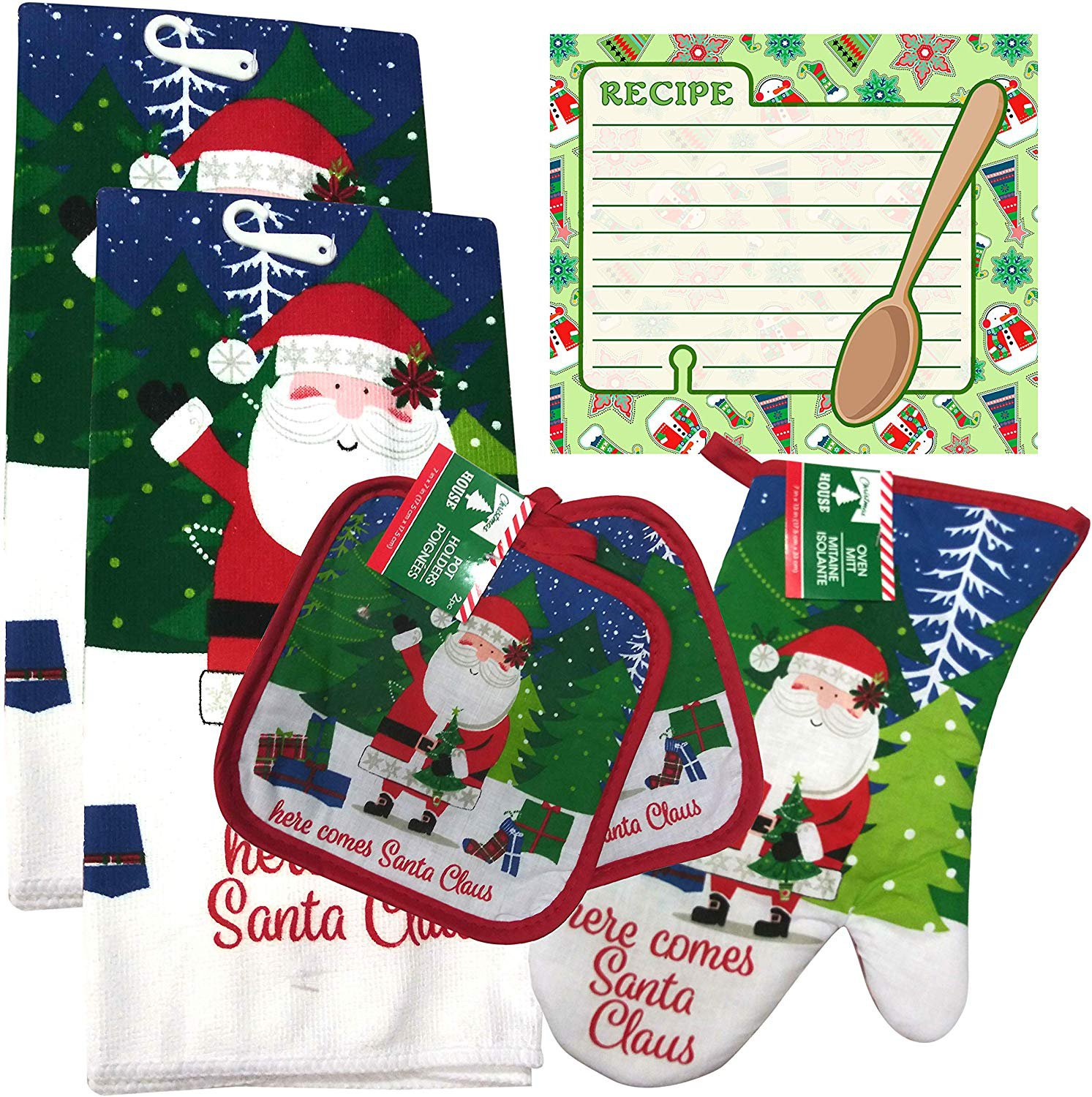 Christmas - Holiday Baking Kitchen Linen Set (6 Piece) - (Style 02)
