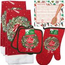Christmas - Holiday Baking Kitchen Linen Set (6 Piece) - (Style 07)
