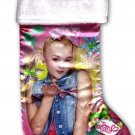 "Nickelodeon JoJo Siwa - 18"" Full Printed Satin Christmas Stocking with Plush"
