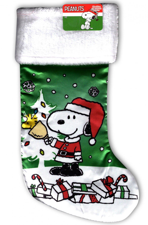 "Peanuts - 18"" Full Printed Christmas Stocking with Plush"