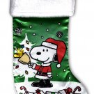 "Peanuts - 18"" Full Printed Christmas Stocking with Plush"