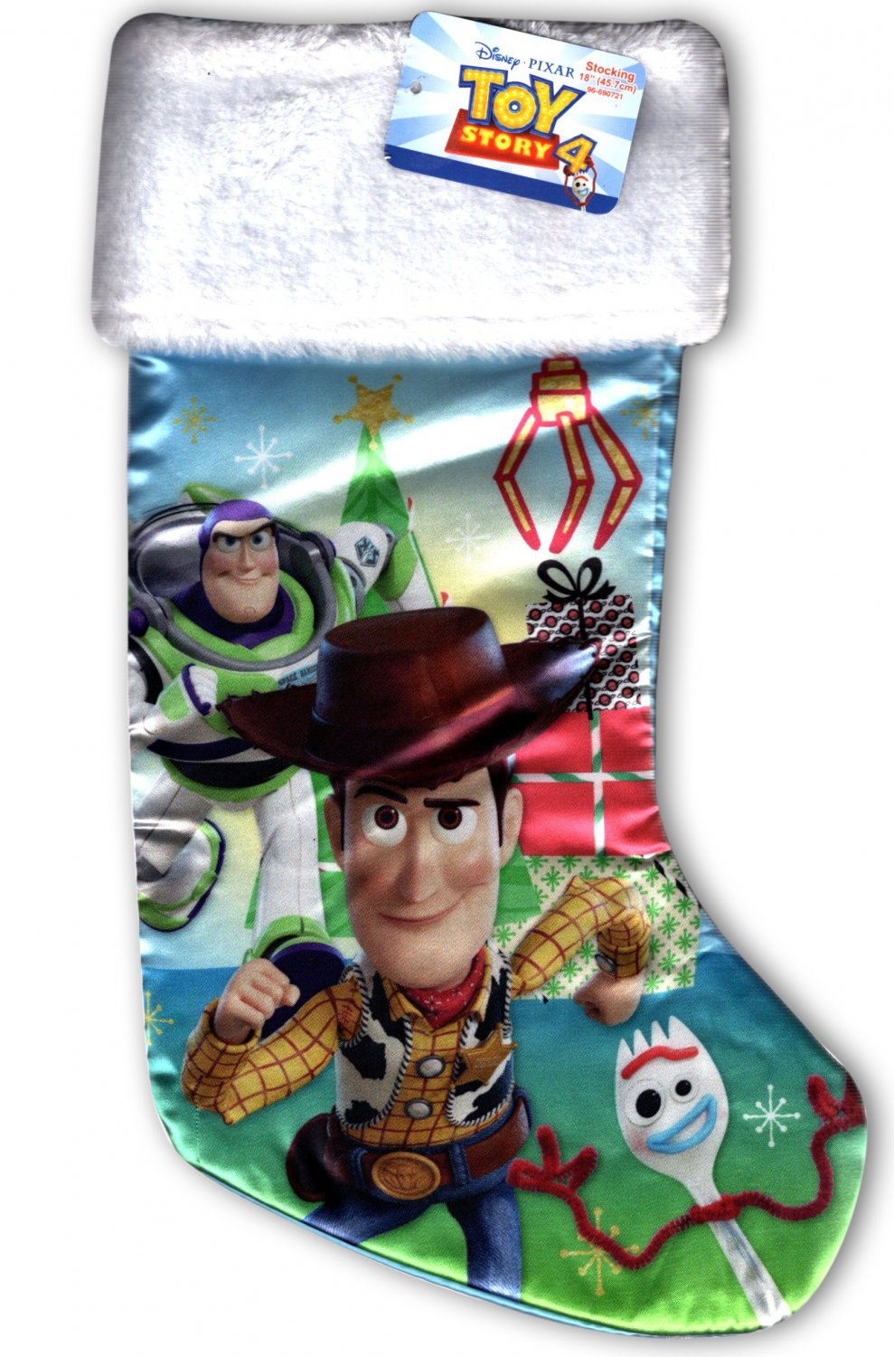 """Disney Toy Story 4 - 18"""" Full Printed Christmas Stocking with Plush Cuff"""