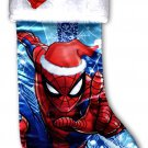 "Marvel Spider-Man - 18"" Full Printed Christmas Stocking with Plush Cuff"