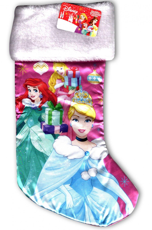 "Disney Princess - 18"" Full Printed Christmas Stocking with Plush Cuff - v2"