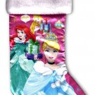 "Disney Princess - 18"" Full Printed Christmas Stocking with Plush Cuff - v2"