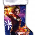"Avengers Captain Marvel - 18"" Full Printed Christmas Stocking with Plush Cuff"
