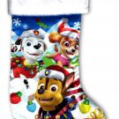 "Nickelodeon Paw Patrol - 18"" Full Printed Satin Christmas Stocking with Plush"