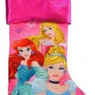 "Disney Christmas Decoration Stocking 18"" Jersey Stockings (Pink Princess)"