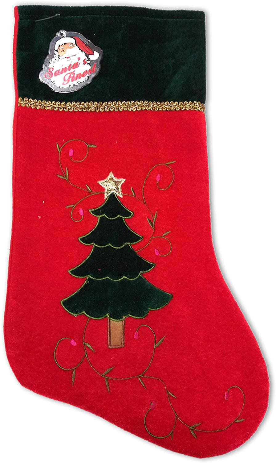 SANTA'S FINEST Christmas Stockings, 19 Inch