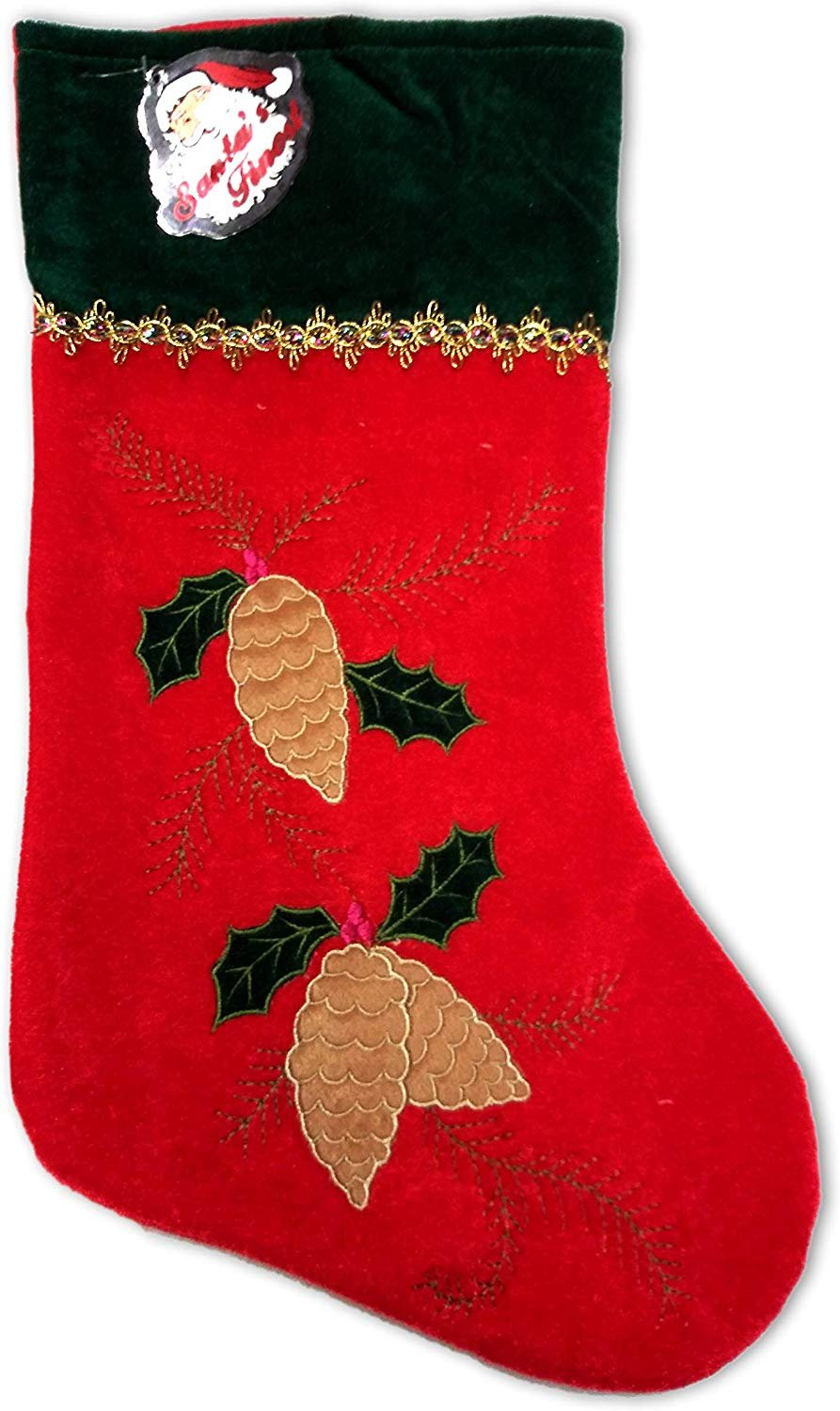 SANTA'S FINEST Christmas Stockings, 19 Inch (Edition #5)