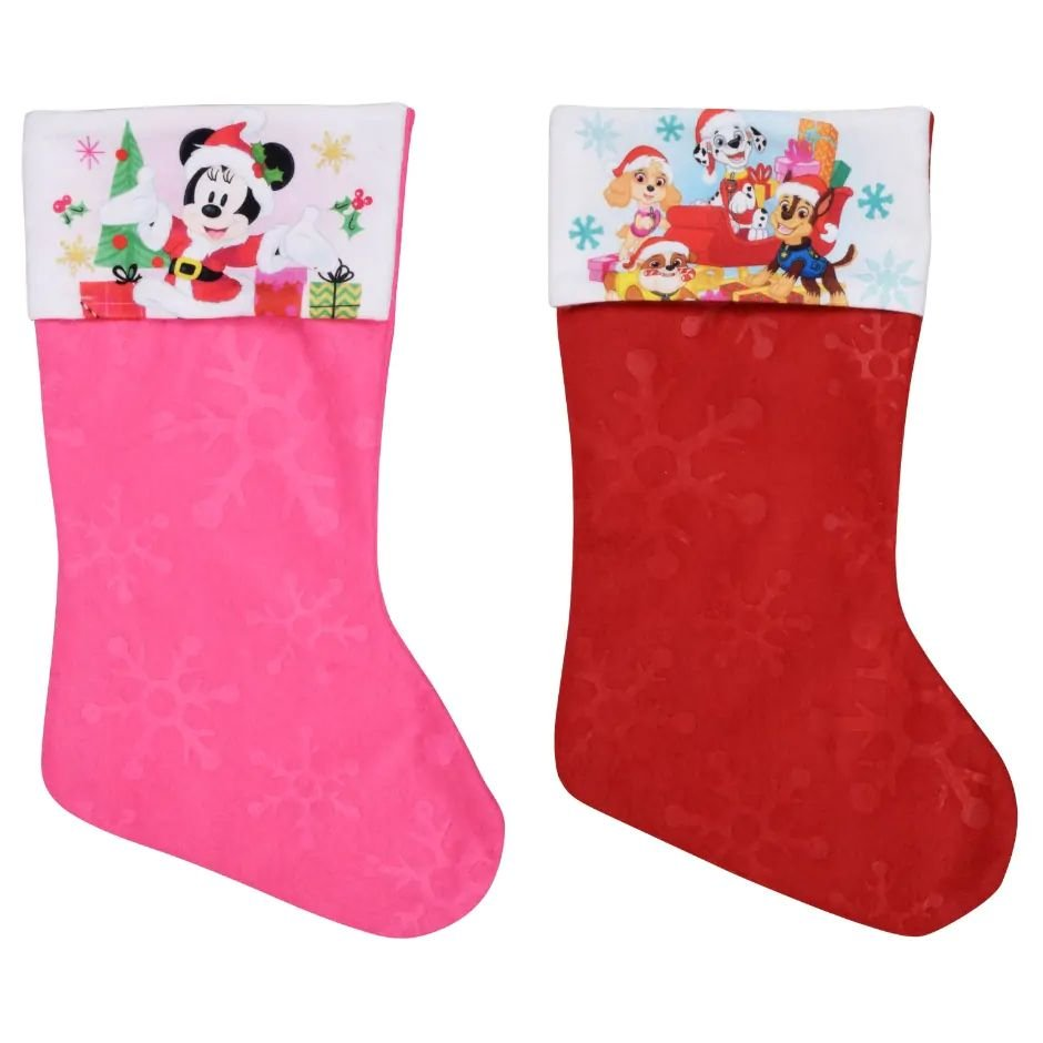 "Minnie Mouse - Paw Patrol - 18"" Felt Christmas Stockings - (Set of 2)"