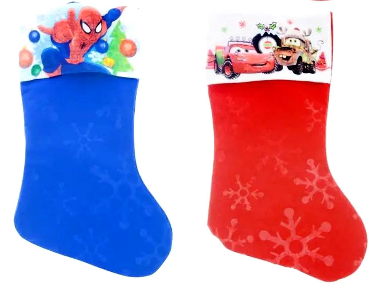 "Spider-Man - Cars - 18"" Felt Christmas Stockings - (Set of 2)"