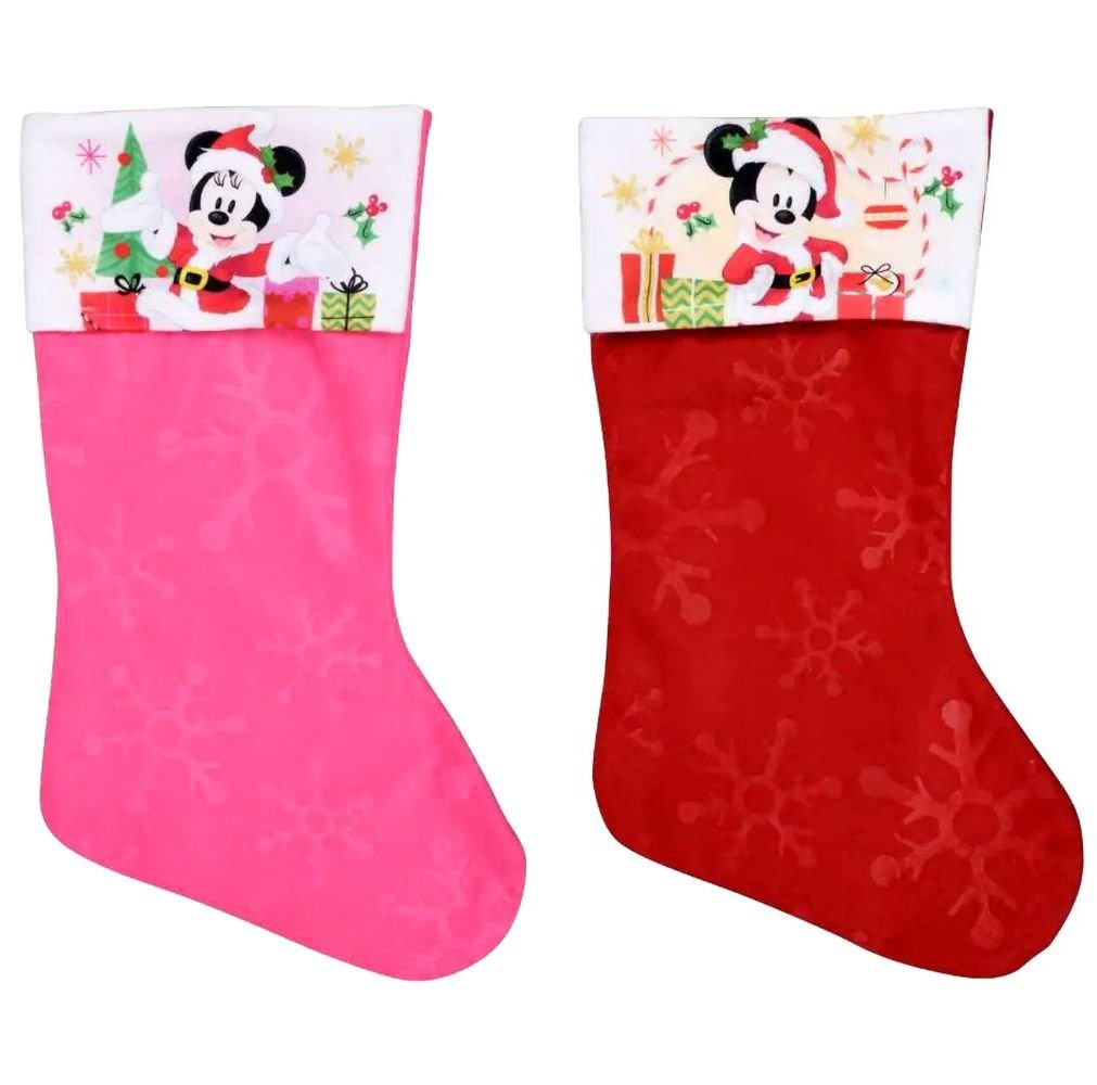 "Minnie - Mickey Mouse - 18"" Felt Christmas Stockings - (Set of 2)"