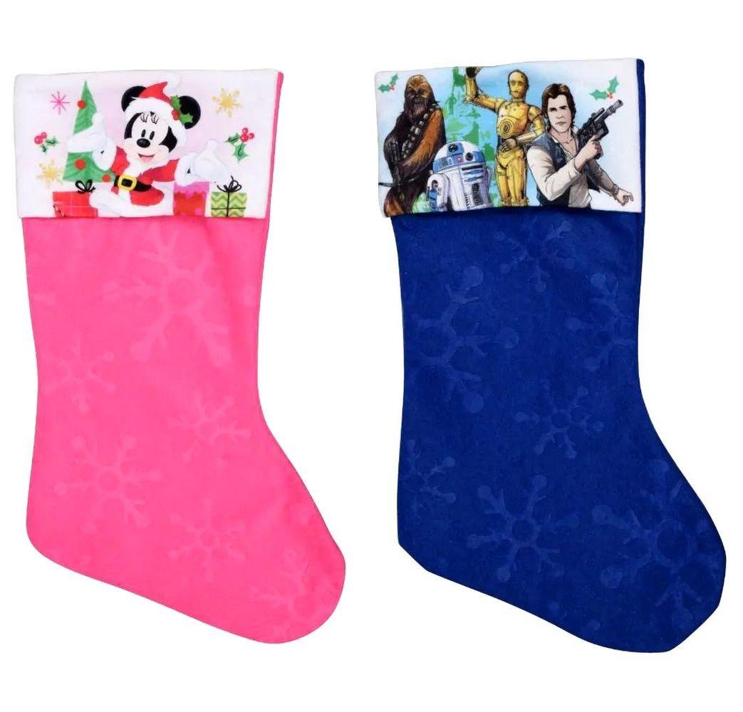 "Minnie Mouse - Star Wars - 18"" Felt Christmas Stockings - (Set of 2)"