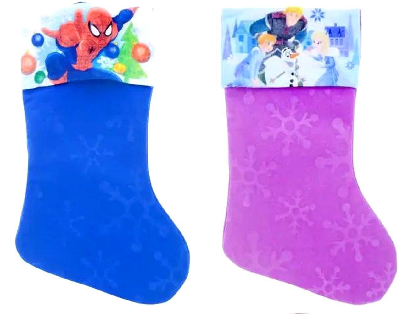 "Frozen - Spider-Man - 18"" Felt Christmas Stockings - (Set of 2)"