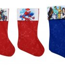 "Spider-Man -  Marvel Avengers - Star Wars - 18"" Felt Christmas Stockings - (Set of 3)"