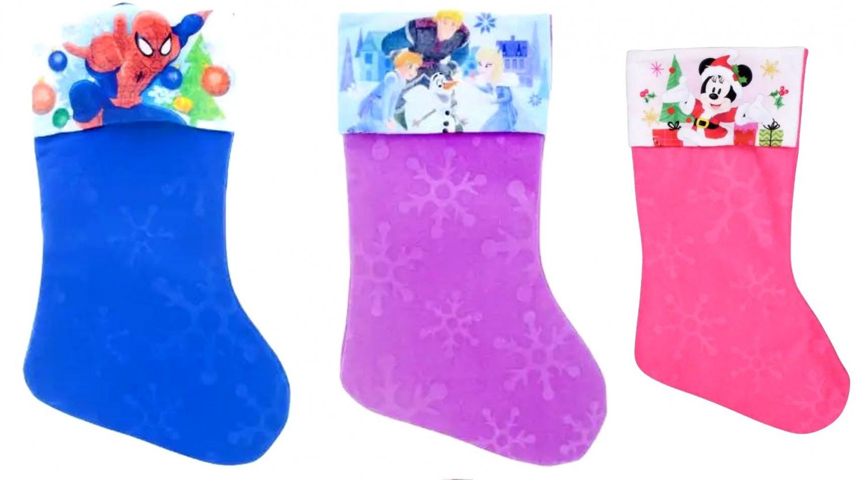 "Frozen - Spider-Man - Minnie Mouse - 18"" Felt Christmas Stockings - (Set of 3)"