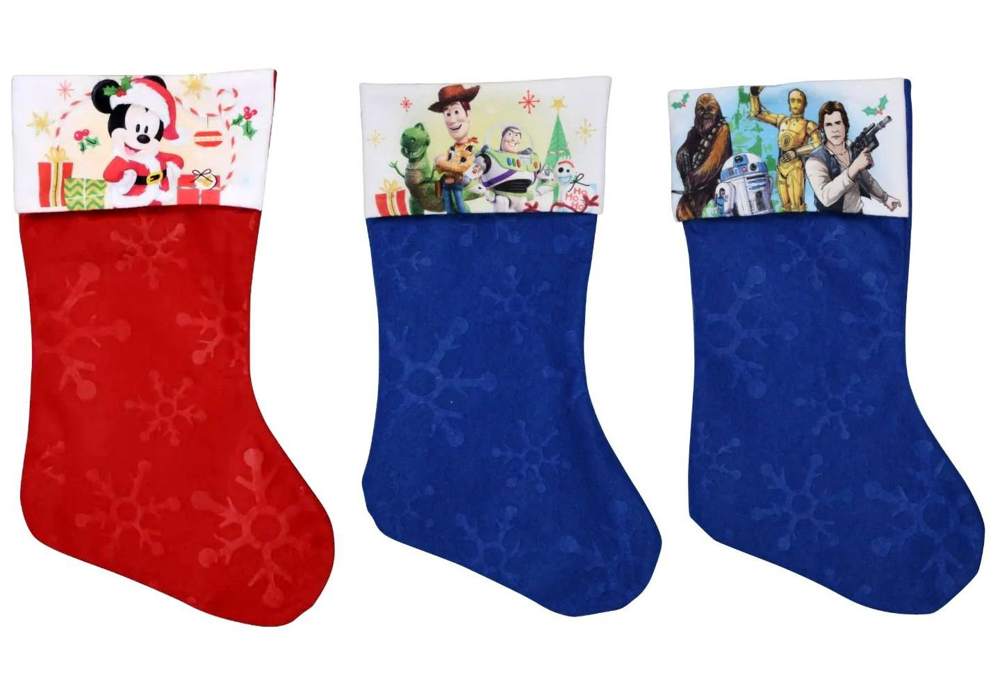 "Toy Story 4 - Star Wars - Mickey Mouse - 18"" Felt Christmas Stockings - (Set of 3)"