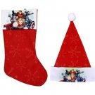 """Marvel Avengers - 18"""" Felt Christmas Stockings and Felt Santa Hats 16-in - Licensed Character ."""
