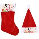 "Disney Mickey Mouse - 18"" Felt Christmas Stockings and Felt Santa Hats 16in - Licensed Character"