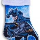 Blue Batman Holiday Christmas Stocking - 16 Inch x 9 Inch