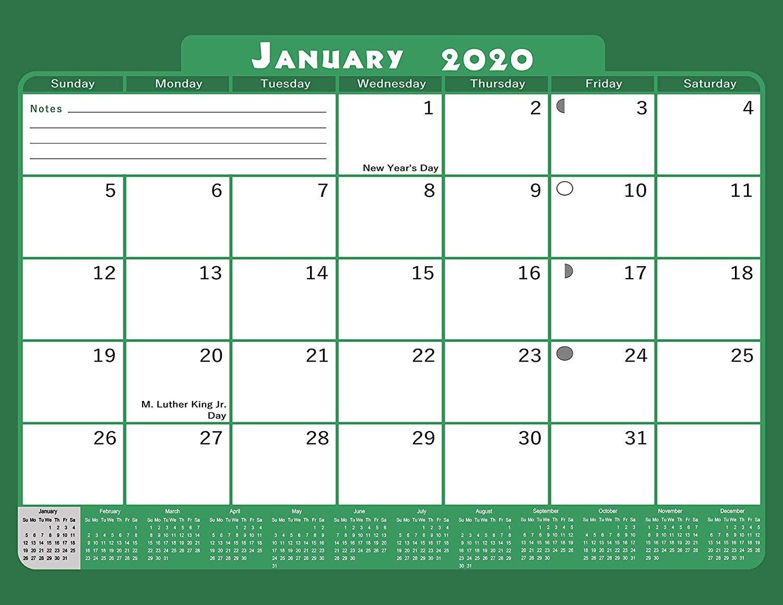 2020 Monthly Magnetic/Desk Calendar - 12 Months Desktop/Wall Calendar/Planner - (Edition #18)