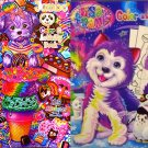 Set of 2 Lisa Frank Coloring Books - Color and Trace and Activity Book