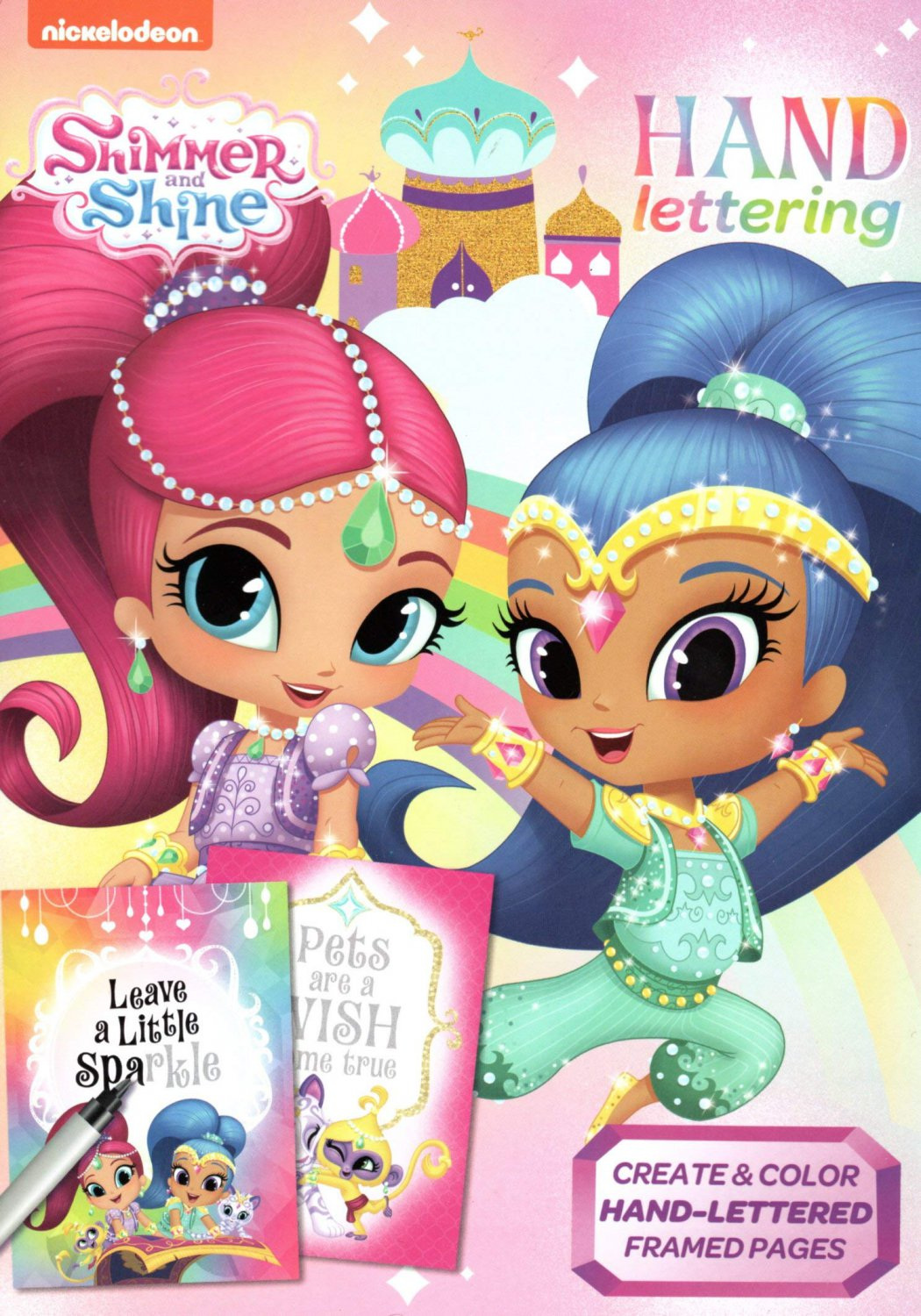 Shimmer and Shine - Hand Lettering & Doodles Activity & Coloring Book