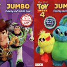 Toy Story 4 Jumbo Coloring and Activity Book - (Set Of 2 Books)