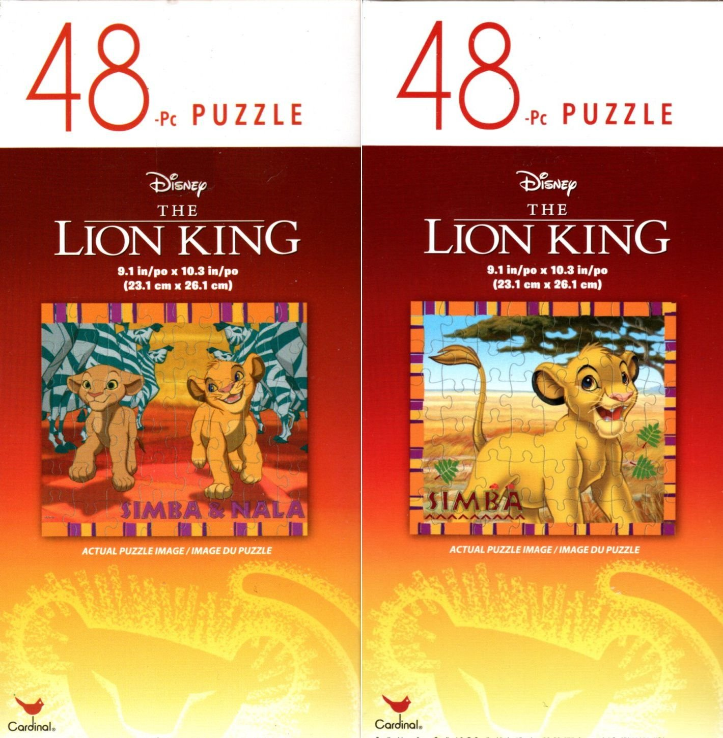 The Lion King - 48 Pieces Jigsaw Puzzle - v2 (Set of 2)