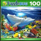 Happy Dolphin - 100 Pieces Jigsaw Puzzle