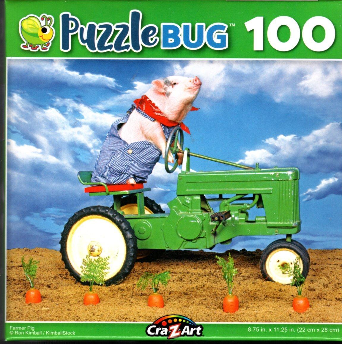 Farmer Pig - 100 Pieces Jigsaw Puzzle