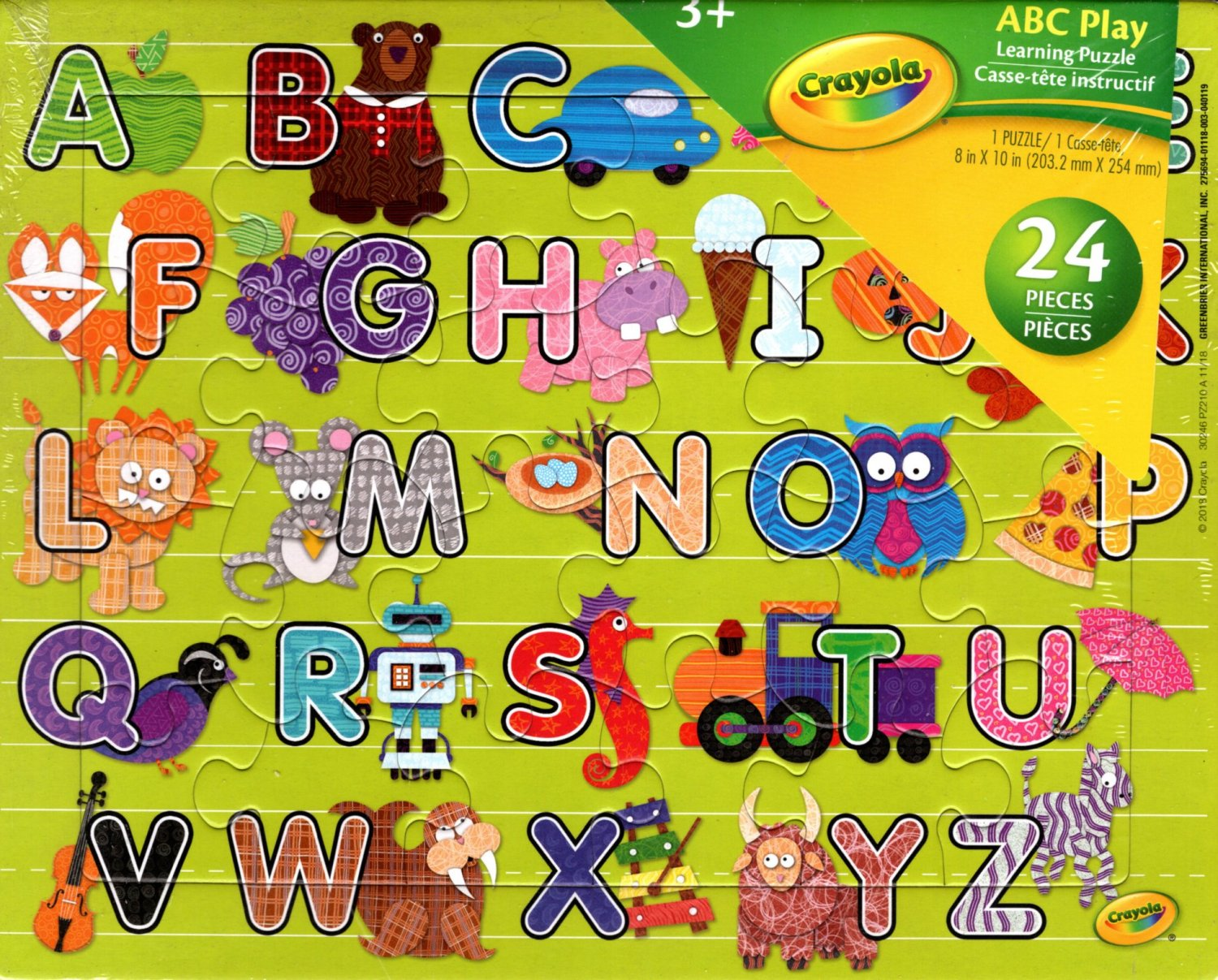 Crayola ABC Play Learning Puzzle - 24 Pieces Jigsaw Puzzle