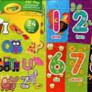 Crayola Count With Me + ABC Play  Learning Puzzle - 24 Pieces Jigsaw Puzzle (Set of 2)