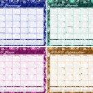 2020 Magnetic 12 Months Desk Calendar - Desktop Planner - (Multi Colored Paisley)
